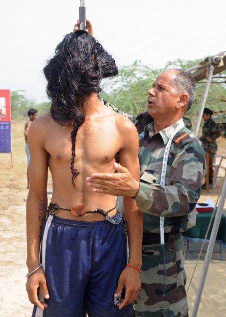 Отбор мужчин в армию Индии