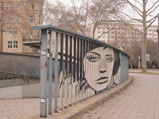 Блоги. Стрит-арт на перилах (21 фото). стрит-арт, искусство,
