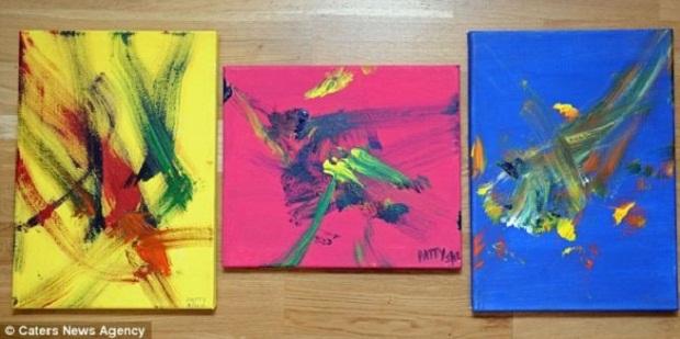 Блоги. Ослица Пэтти пишет картины в стиле абстракционизма (3 фото + текст). ослица художник, животные пишут картины