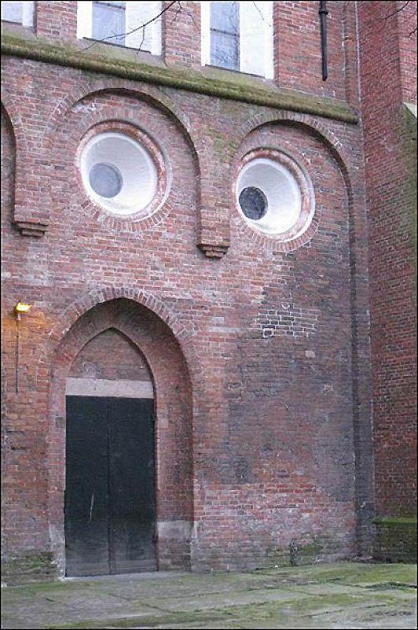 Блоги. Забавные лица зданий (21 фото). забавные, лица, зданий