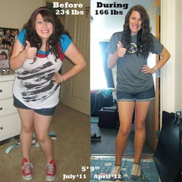До и после спорта: