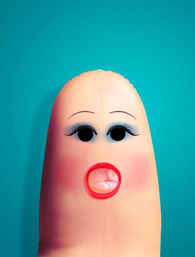 Портреты на пальцах Dito Von Tease