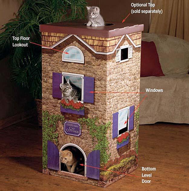 Кошачьи домики (32 фото)