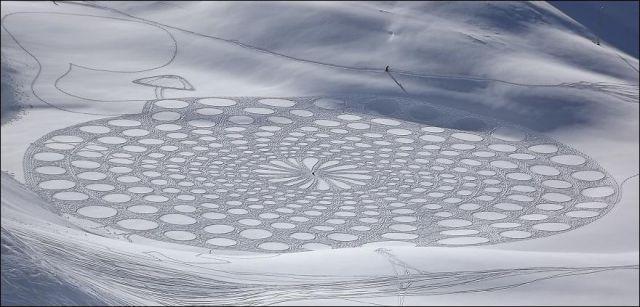 Крутые снежные рисунки