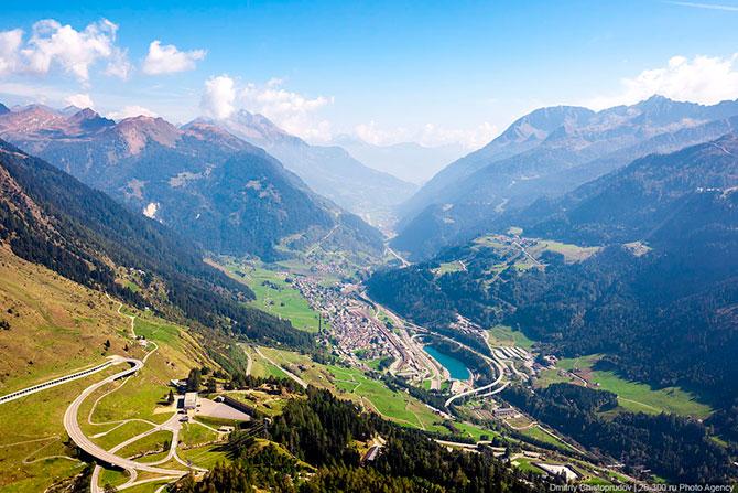 Перевал Сен-Готард в Швейцарии