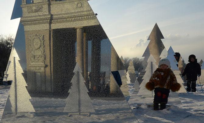 Новогодние праздники в России в фотографиях