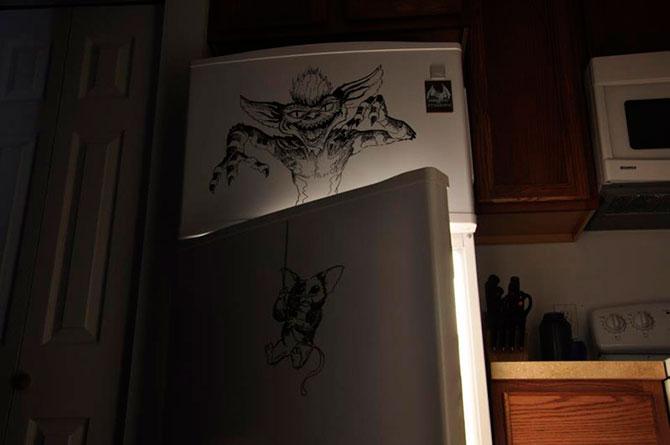 Рисунки на холодильнике