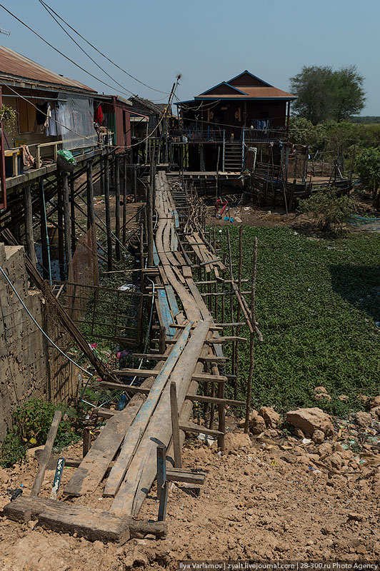 Плавучие деревни озера Тонлесап в Камбодже