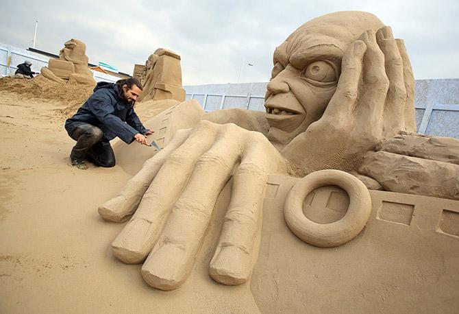 Фестиваль песчаных скульптур в Уэстоне, Англия