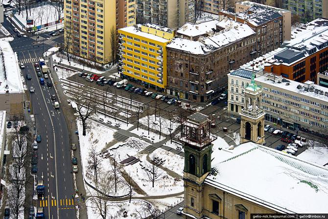 Зимняя Варашава с высоты