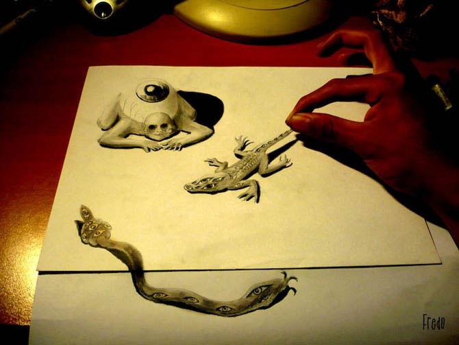 Удивительные трехмерные рисунки (16 фото)