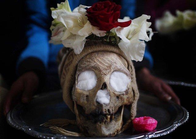Боливийский фестиваль Черепов (11 фото)