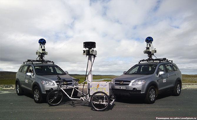 Как Google делает панорамные снимки улиц