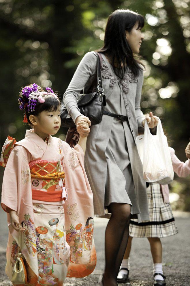 Самые обаятельные малыши на празднике детей в Японии