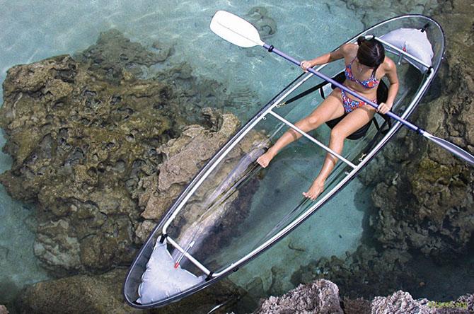Удивительные прозрачные лодки