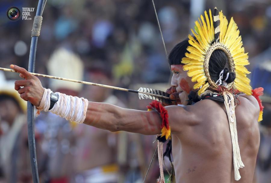 XII спортивные игры коренных народов Бразилии (44 фото)