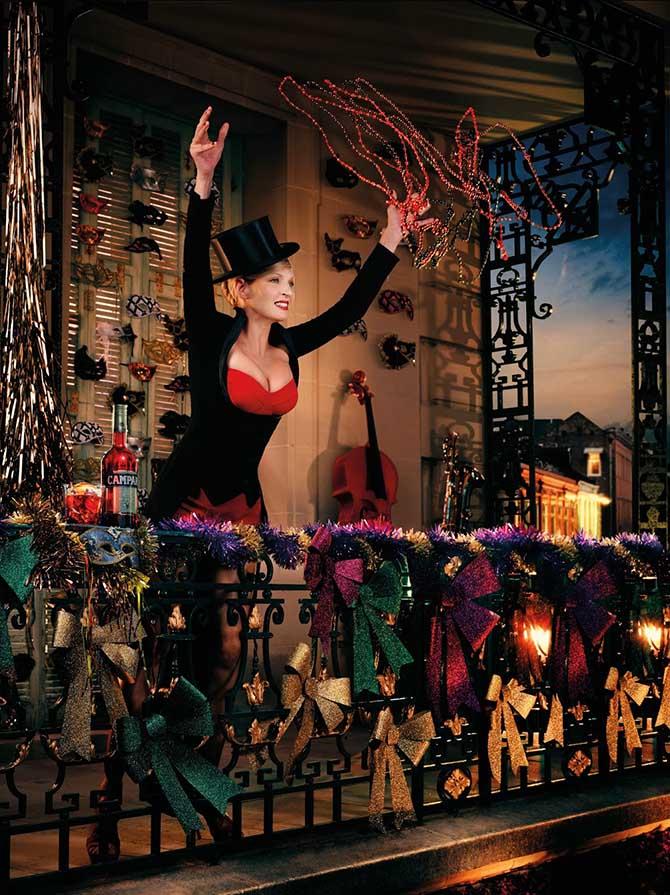 Ума Турман в календаре Campari