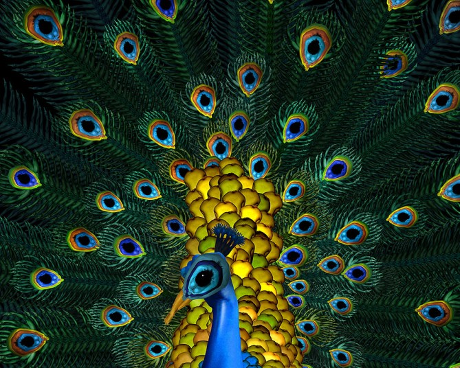 Cложные мозаичные коллажи Сесилии Уэббер из обнаженных тел (13 фото)