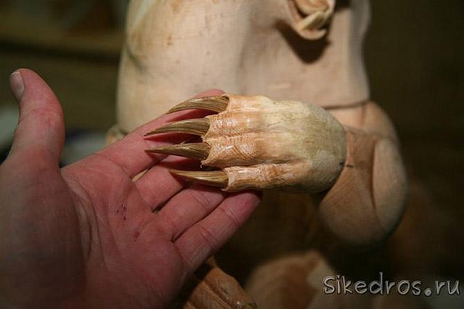 Как выглядят уникальные скульптуры из деревянной стружки