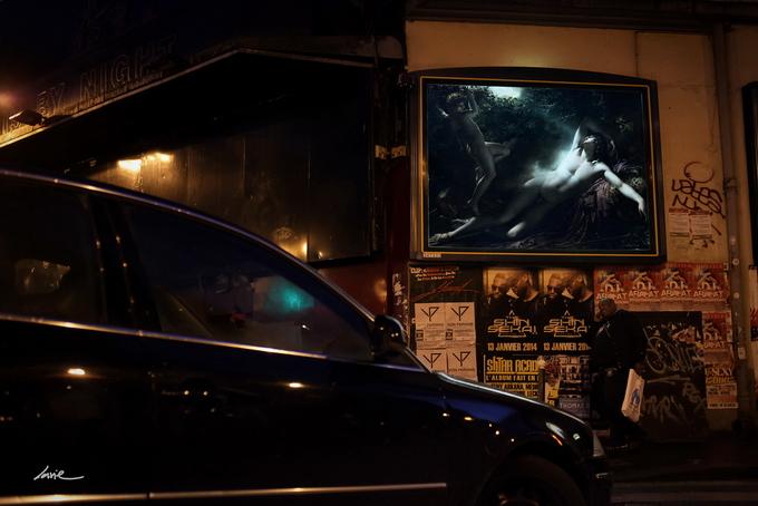 Живопись вместо рекламы на улицах Парижа