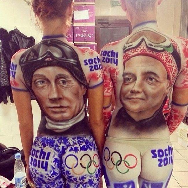 Сексуальные болельщицы на Олимпиаде в Сочи (2 фото)
