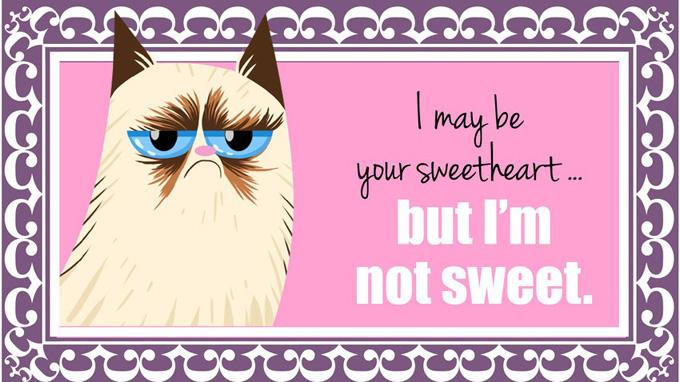 Валентинки от Grumpy Cat