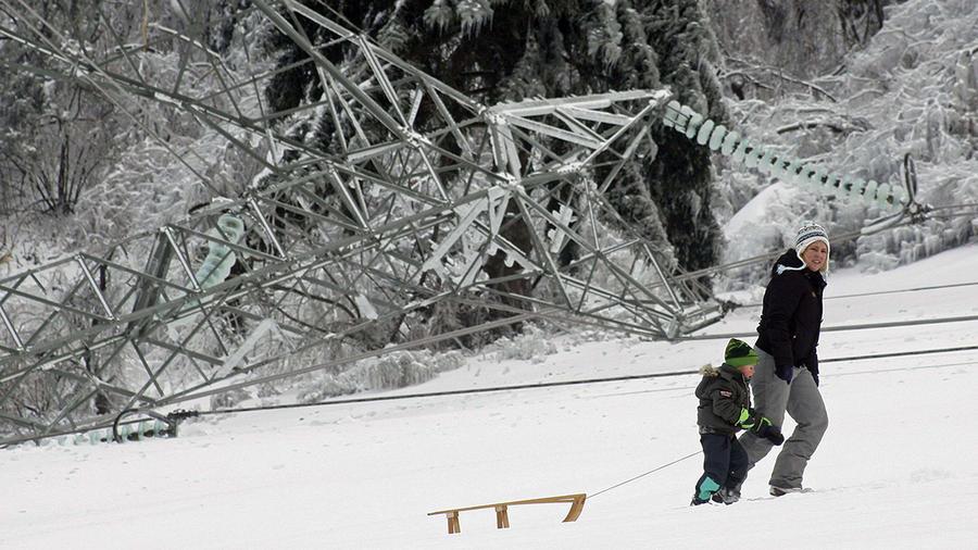 Сильнейший ледяной дождь обрушился на Словению