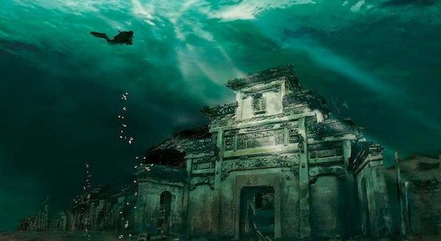 Потерянный город Ши Чен обнаружен под водой в Китае