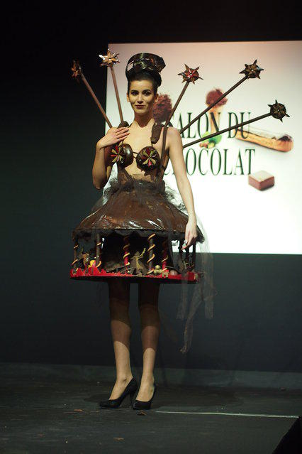 Шоколадный показ мод в Брюсселе