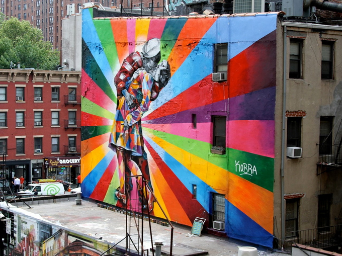 Уличный художник Eduardo Kobra
