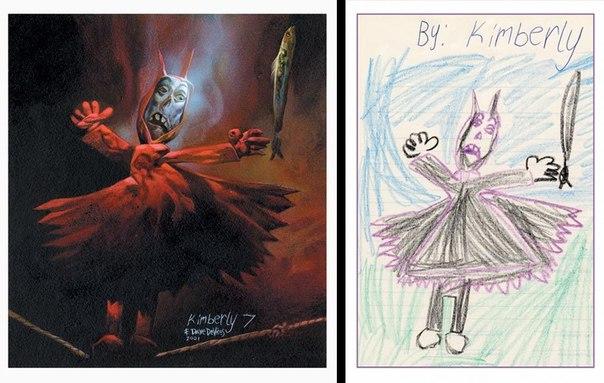 Дэйв Дэврис и детские рисунки