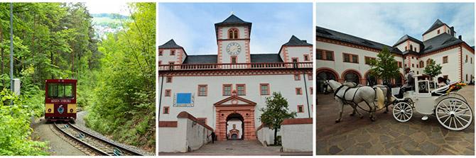 Путешествие по лесному фуникулеру и городу в Саксонии