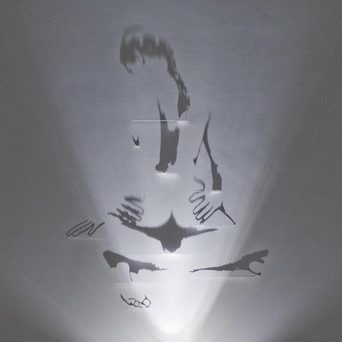 Художник, рисующий тенью