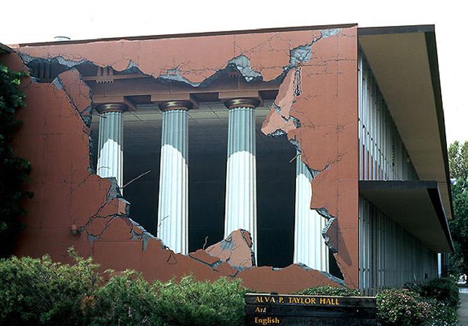 Оптические иллюзии на зданиях