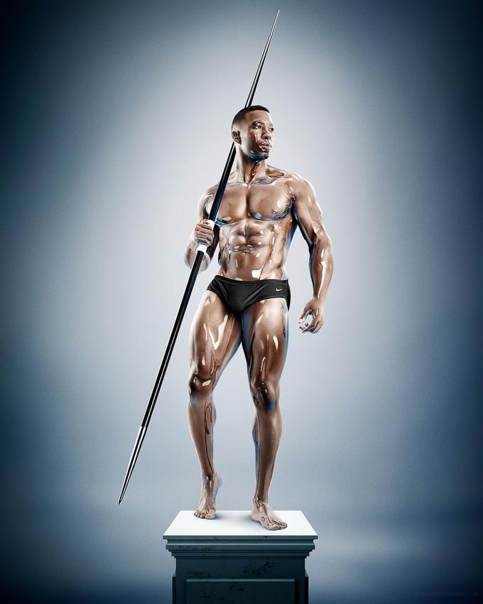 """Фотосерия """"Sculpture Athletes"""""""