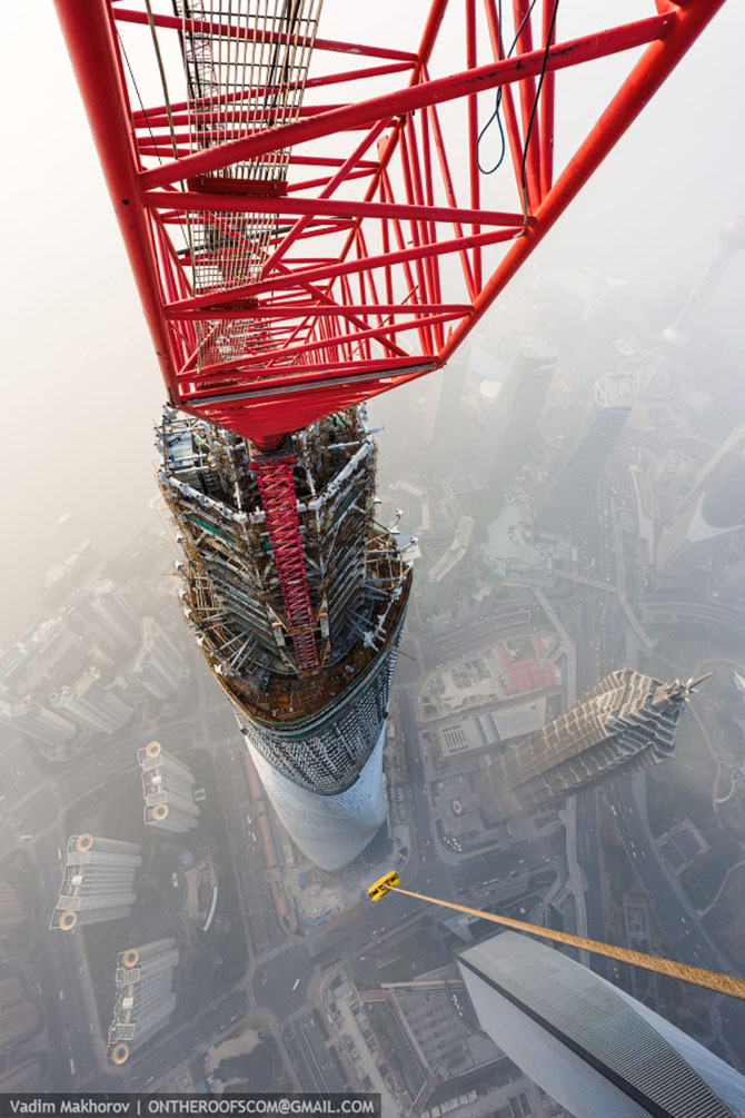 Путешествие на вершину Шанхайской башни