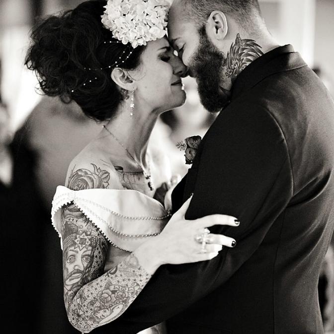 Нетрадиционная свадебная фотография