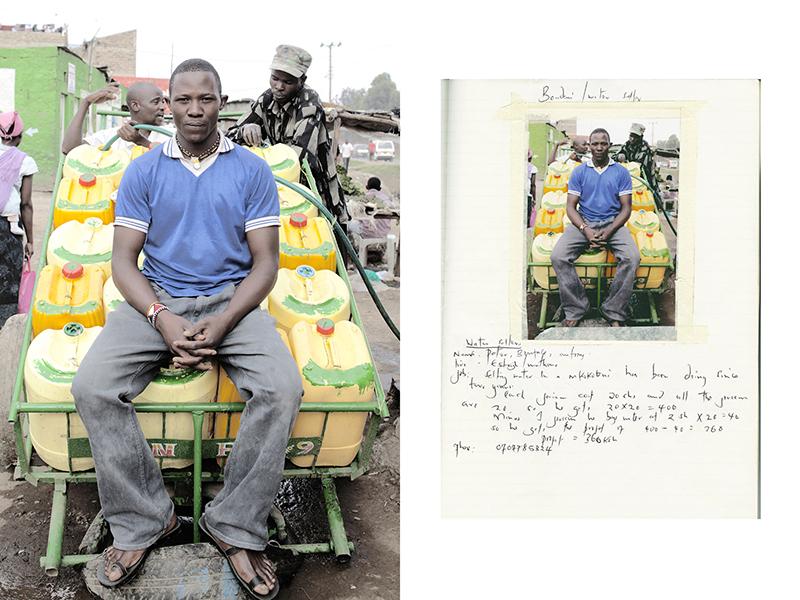 Уличные продавцы в трущобах Найроби