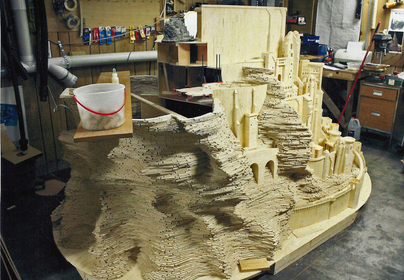 Минас Тирит созданный из 420 000 спичек