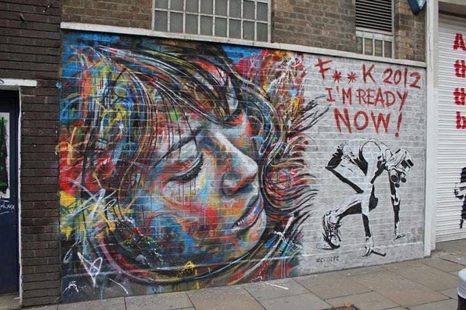 Примеры потрясающего стрит-арта от Дэвида Уолкера