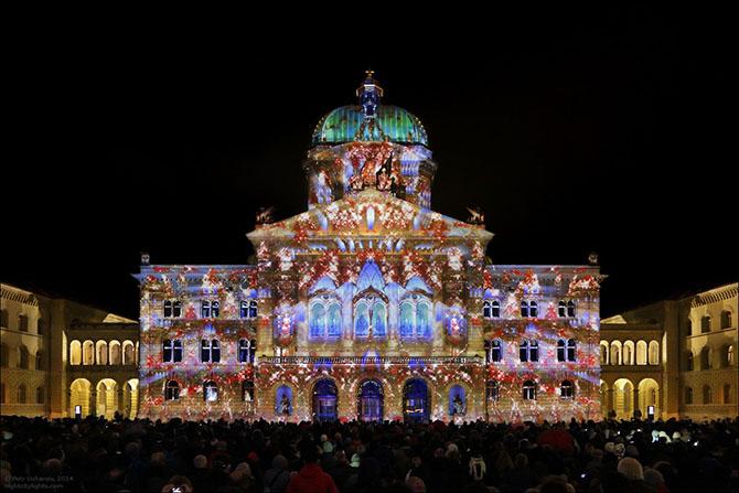 Как проходило световое шоу в Берне