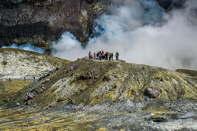Уайт айленд - частный вулкан посреди океана