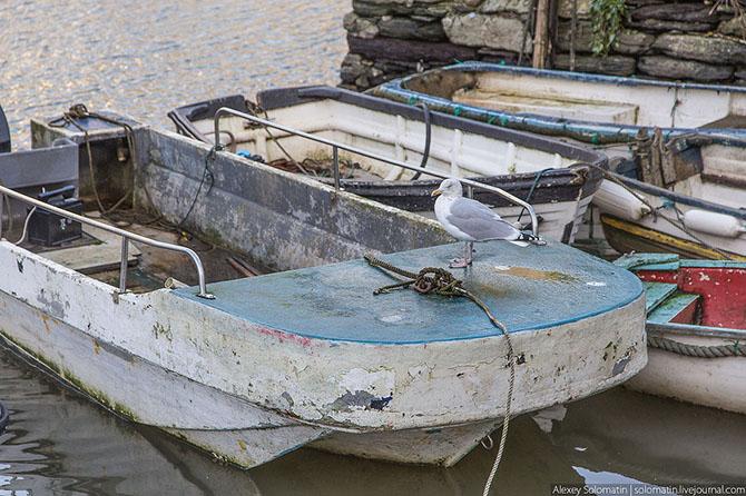 Прогулка по рыбацкой деревне Polperro на юге Великобритании