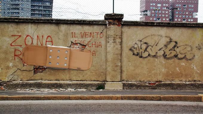 Уличный художник Fra Biancoshock