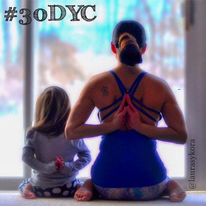 Йога мамы и дочки, которая покорила мир