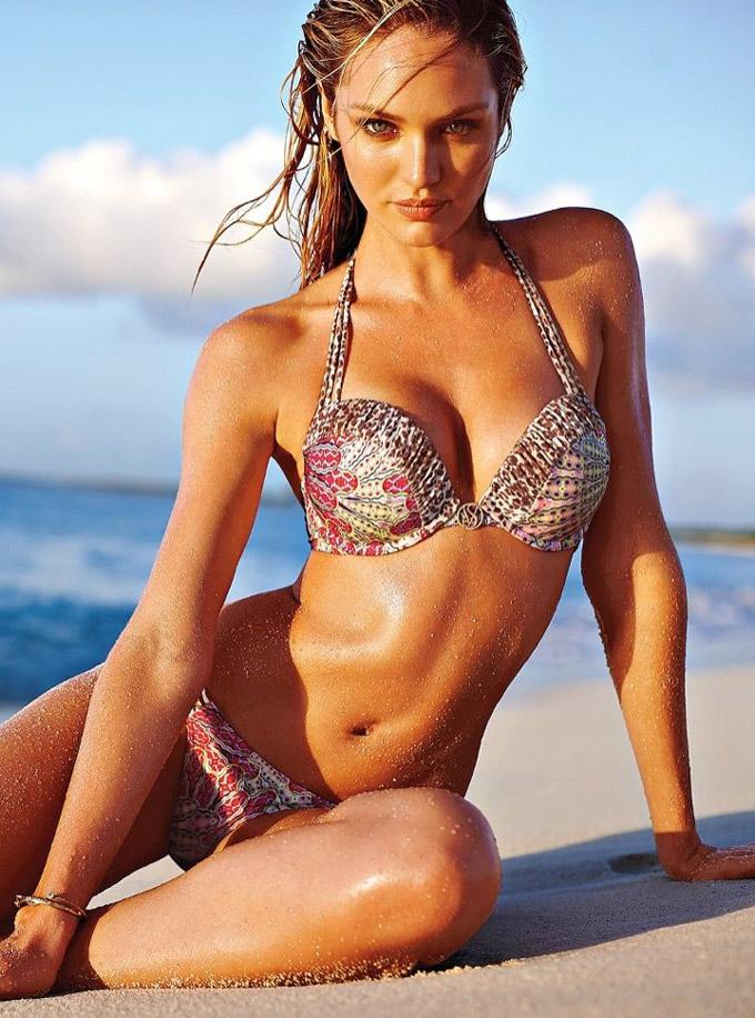 Кэндис Свэйнпоул в каталое Victoria's Secret