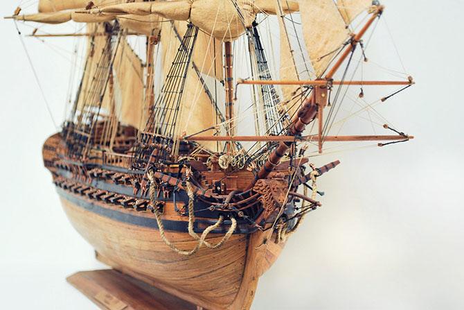 Как делают модели кораблей из ценных пород дерева