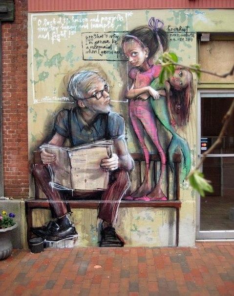 Творческий дуэт граффитистов Herakut