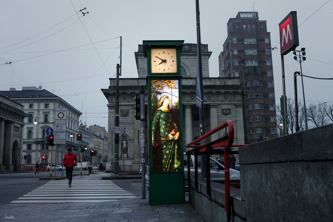 Живопись вместо рекламы на улицах Милана