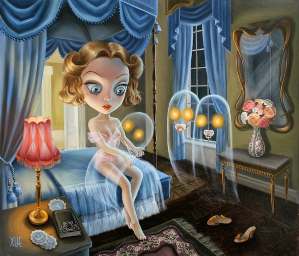 Девочки и призраки от Xue Wang